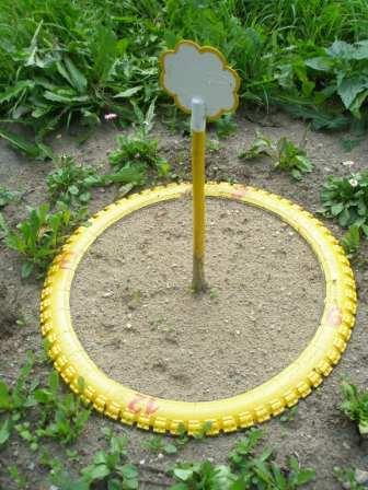 Солнечные часы для детского сада из колес